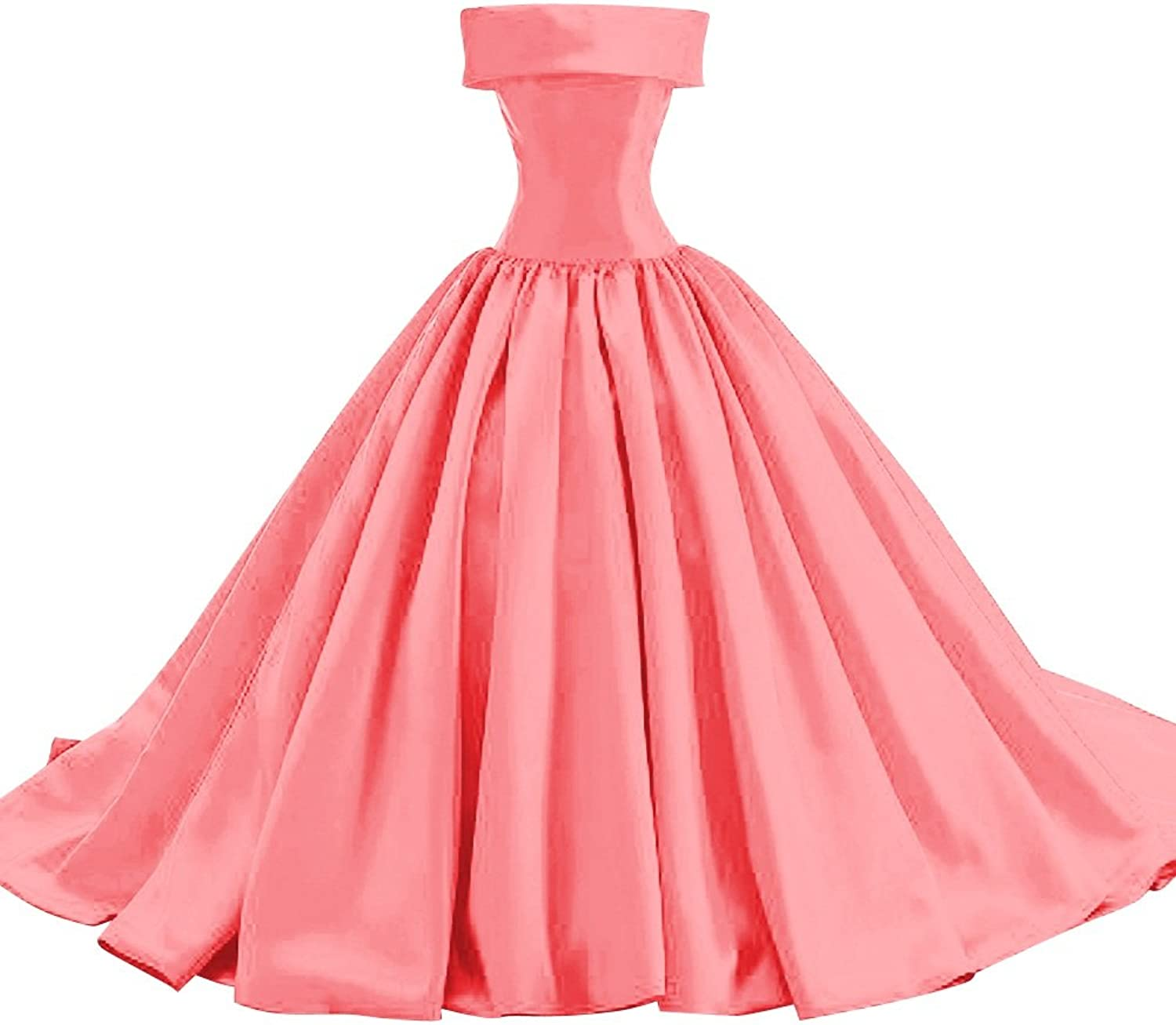 Bess Bridal Women's Ball Gown Lace Up Formal Prom Evening Dresses with Bows