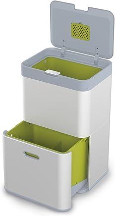 Joseph 30019 Totem 垃圾回收系统单元,48 升,金属,40 x 30 x 66 厘米 银白色 48 L 30040