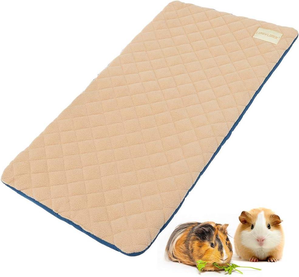 EXPAWLORER Guinea Max 72% OFF Pig Fleece Cage Liners - Washable Gui Japan's largest assortment Non Slip
