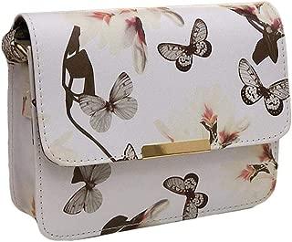 Niome Butterfly Flower Bag Women Elegant Retro PU Leather Shoulder Bag Messenger Bag Handbag