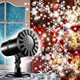 Christmas Dynamic Snowflake Projector Lights 2018 Newest Rotating LED Snowfall Projection Lamp Indoor Outdoor Waterproof Sparkling Landscape Decorative Lighting for Holiday Halloween Xmas Party
