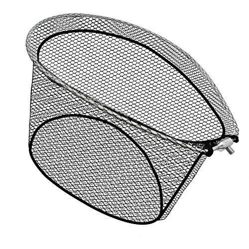 JINKING たも網 ランディングネット ラバー アルミオーバルフレーム 玉網 折りたたみ玉枠 サイズ(S/M/L)