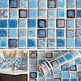 Livelynine Papel pintado de vinilo impermeable de 15,8 x 394 pulgadas para baño, ducha, encimera, cocina, retrosalpicadero, papel de contacto, adhesivo decorativo extraíble