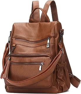 Women Backpack Purse Anti-Theft PU Leather Ladies Tassels Convertible Rucksack Zipper Shoulder Bag