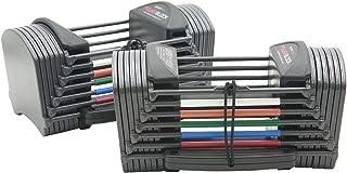 POWERBLOCK Sport 24 Adjustable Dumbbells, Grey, 24 lbs per Hand