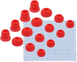 BLLQ Red Replacement Silicone Ear Tips Earbuds Buds for Powerbeats 3 Wireless Beats by dre Headphones, Eartips 16PCS 8 Pairs 4 Size Options for Powerbeats3 Red pbr16