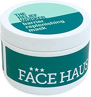 Face Haus Face Mask | The Relief Worker Barrier Replenishing Mask - Professional Size | For Normal to Combination Skin | 8...