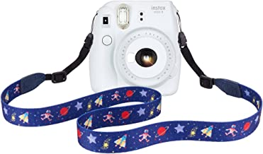 Elvam Camera Neck Shoulder Belt Strap for Men/Women Compatible with Instant Mini 8/8+/9/7s/25/50/90, Digital Camera, Mirrorless Camera ETC, Blue Pattern