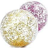Bola De Praia Transparente Glitter (71cm) Intex
