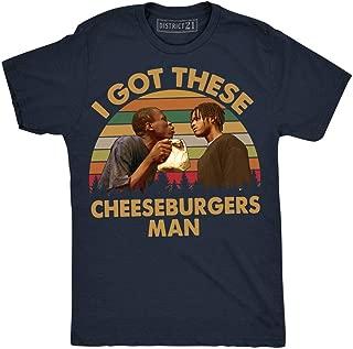 I Got These Cheeseburgers Man Vintage Retro T-Shirt Menace II Society
