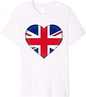 I Love United Kingdom UK T-Shirt | British Flag Heart Outfit