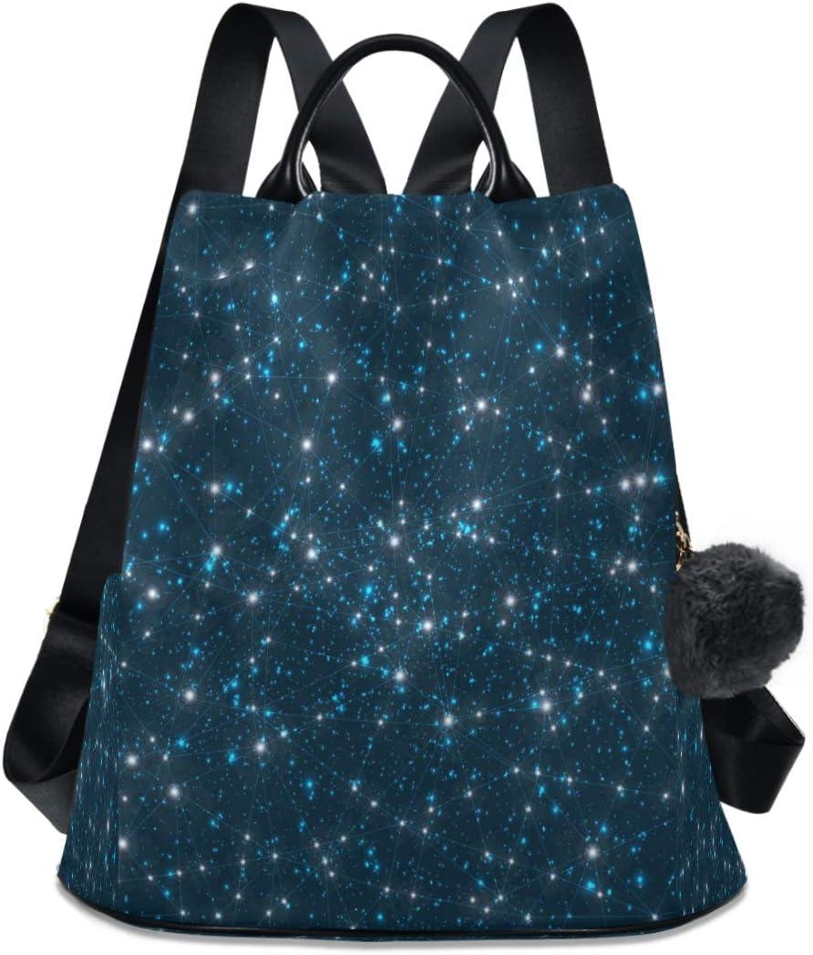 Louisville-Jefferson Ranking TOP7 County Mall ALAZA Galaxy Constellation Zodiac Stars Backpack Anti-thef Purse