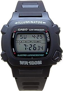 Reloj Casio W7401V, de resina negra, con mecanismo de cuarzo