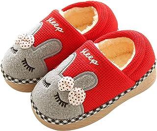 KuaiLu Enfants en Bas âge Animal Chaussons Bottes Bottines Chaussures Semelle en Caoutchouc Garçons Chaussons Filles