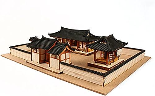 Desktop Wooden Model Kit Korean-style House Set   YG652 by Young Modeler