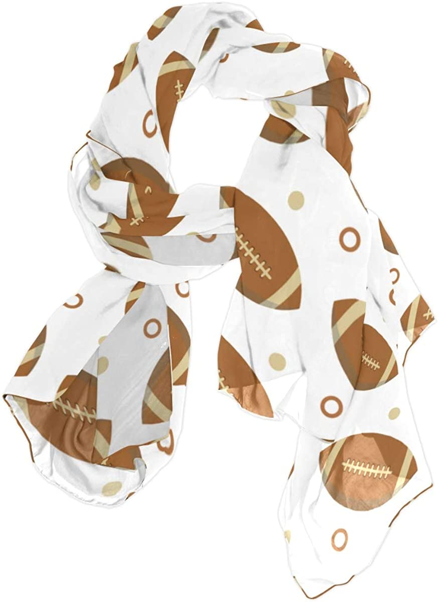 Colorful American Football Unique Fashion Scarf For Women Lightweight Fashion Fall Winter Print Scarves Shawl Wraps Gifts For Early Spring