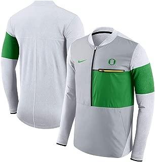 Nike Oregon Ducks Coaches Sideline Shield Hybrid Half-Zip Jacket (Large)