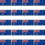 20 Stück 2,7cm Australien Flagge Fahne RC Modellbau Mini Aufkleber Sticker Modellbauaufkleber