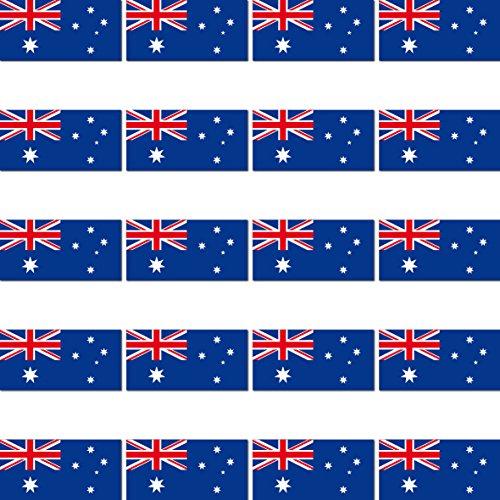 GreenIT 20 Stück 2,7cm Australien Flagge Fahne RC Modellbau Mini Aufkleber Sticker Modellbauaufkleber