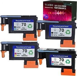 Best Tuobo Remanufactured 70 Print Head for 70 C9404A C9405A C9406A C9407A Compatible with Designjet Z2100 Z5200 Z3200 Z3100 Printer (1 Set 70 Printhead) Review