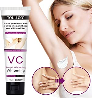 Underarm Whitening Cream,Skin Lightening Cream,Natural Skin Bleaching Cream with Vitamin C Effective for Lightening & Brightening Armpit,Knees,Elbows,Sensitive & Private Areas,Whitens and Repairs Skin