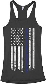 Women's Honor & Respect Thin Blue Line Flag Racerback Tank Top