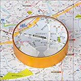 6X Domed Magnifying Glass 60mm Golden Desktop Paperweight Magnifier Reading Aid for Small Fine Print,Newspaper,Bible,Document Examination,Recipes, Craft and Map, Hand Polished & Light Gathering