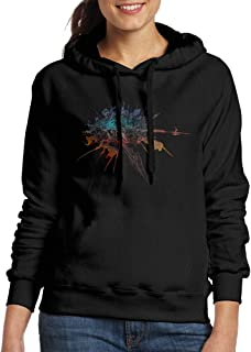 Curcy Final F XIV Online Role-playing Game Hoodie Hoodies WomensTravel Black