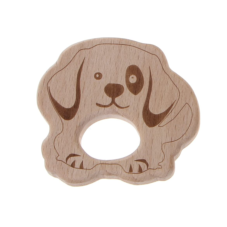 トリップ不条理追い越すランドウッドティーザー動物ユーカリティーザー赤ちゃん看護玩具かむ玩具歯が生えるガラガラおもちゃ - 子犬