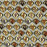 Jersey Stoff König der Löwen Rauten Nala Simba gelb weiß