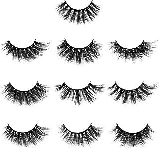 10 Pairs False Eyelashes Extension Natural Thick 3D Faux Mink Lashes Makeup Tools 10 Pairs