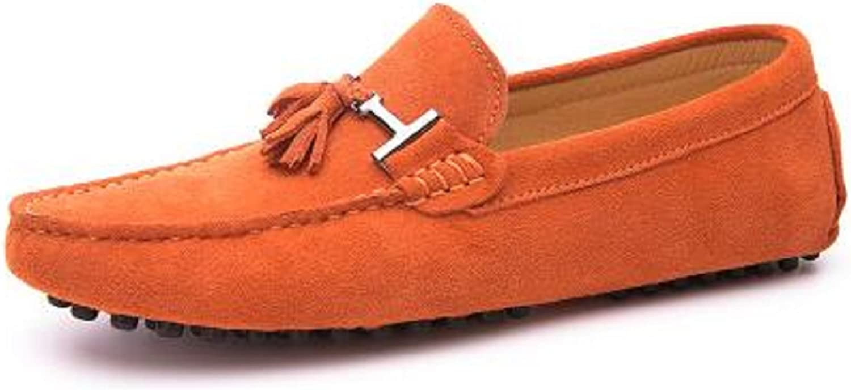 HAPPYSHOP Mann's Casual mocka läder Tassel Slip Slip Slip -on Loafers Driver Bil Mockasines utomhus Boat skor svart  till lägsta pris