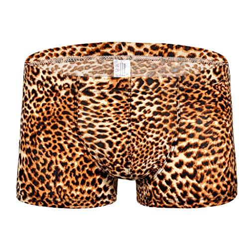Unterhosen Männer Dasongff Leopard Druck Sexy Boxershorts Modern Ideale Passform Unterwäsche Mehrfarbig
