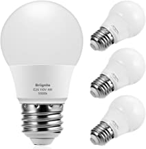 Briignite A15 LED Bulbs, Globe Light Bulbs 25 Watts Equivalent(4W LED), Daylight 5000K LED Bulb, E26 Medium Screw Base 320LM A15 Shape Decorative Edison Home Lighting Non-Dimmable (Pack of 4)