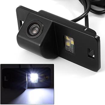 Misayaee Rear View Back Up Reverse Parking Camera in License Plate Lighting Night Version (NTSC) for Mini cooper R50 R52 R53 / X3 X5 X6 E53 E70 E71 E72 E83 X1 E84