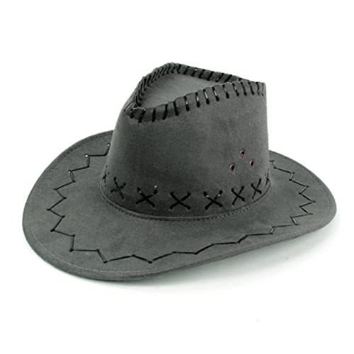 HMILYDYK Cowboy Hat Fancy Dress Accessory Wide Brim Western Cowgirl Hats  Wild West 024921ef7519