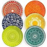 Annovero Dinner Plates, Set of 6 Porcelain Plates, 10.5 Inch Diameter...