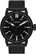 Tsovet SVT-FW44-331010-02 - Reloj analógico de Cuarzo para Hombre con Correa de Piel, Color Negro