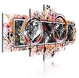 Dekoarte 284 - Cuadro moderno en lienzo de 5 piezas, estilo abstracto en tonos...