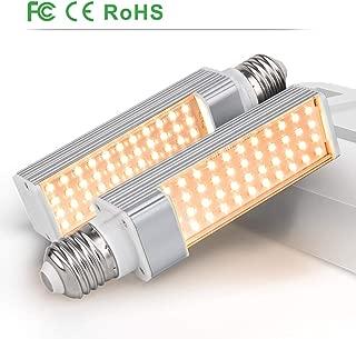 LED Plant Light Bulbs for Indoor Plant, Relassy Full Spectrum Grow Lamp Bulbs, 2PCS Plant Lights' Replaceable Bulbs, 88 LEDs