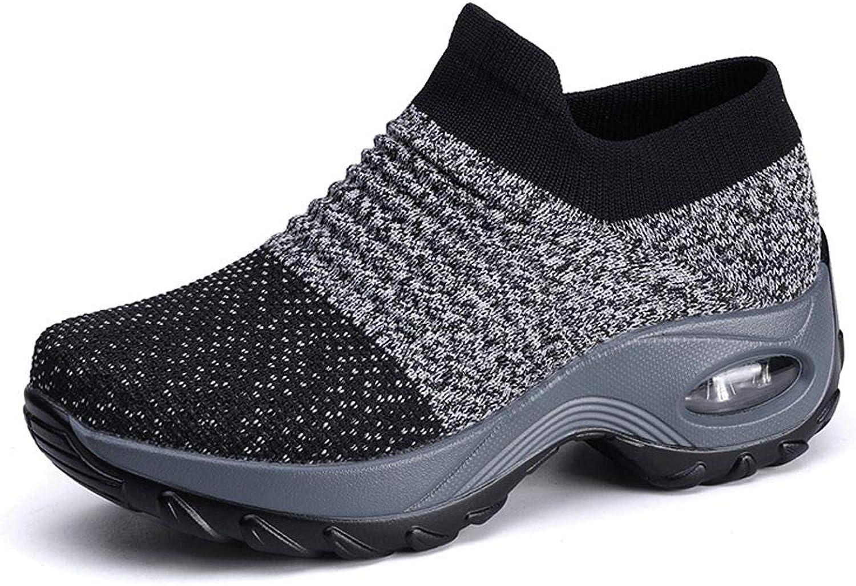 No.66 Town Women's Comfortable Mesh Platform Height Increasing Sneakers Casual Tennis Walking Air Fitness shoes US 5.5-10