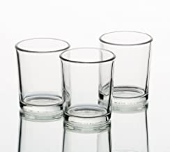 Set of 12 Clear Eastland Glass Votive Candle Holders