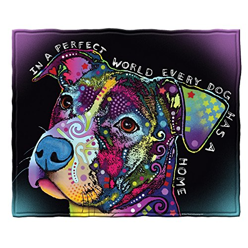 Dean Russo Perfect World Every Dog Has a Home Super Soft Plush Fleece Throw Blanket
