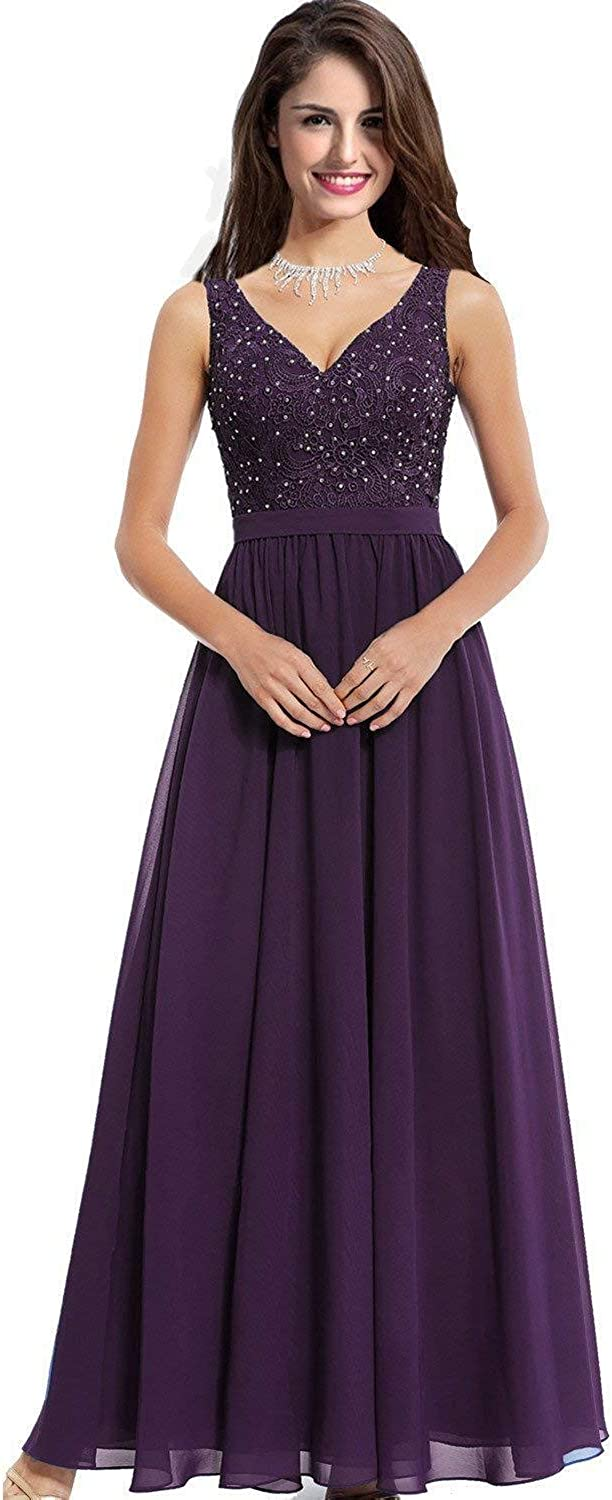 JoyVany Women's Long V Neck Prom Dresses 2019 Formal Evening Gown JP182
