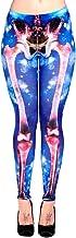 Verboden Galaxy Skull Leggings (blauw) - 10 UK...