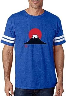 Tstars - Mt. Fuji Mountain Sunset Gift for Japan Lovers Football Jersey T-Shirt
