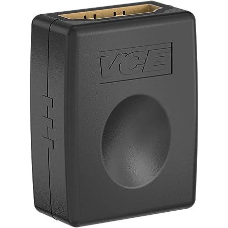 VCE HDMI中継アダプタ HDMIメス to HDMIメス 変換コネクタ HDMIケーブル繋ぐ延長接続 4K 金メッキ