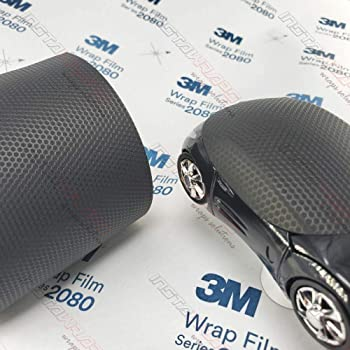 Vinyl Vehicle Car Wrap Film Sheet Roll 3M 2080 MX12 Matrix Black 4in x 6in Sample Size