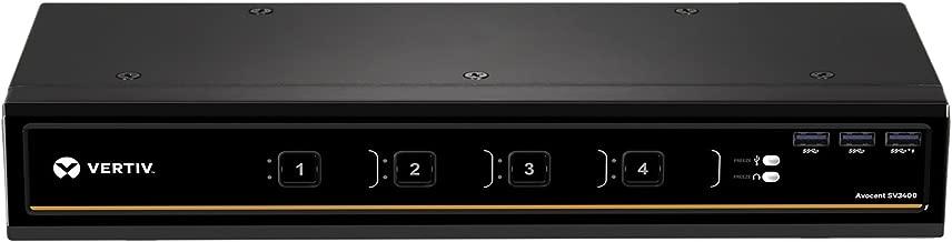 Vertiv Avocent 4-Port Dual-Head DisplayPort 4K Ultra HD KVM Switch (SV340D)