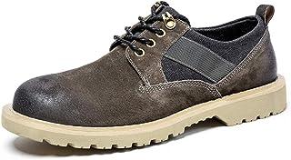 أحذية TONGDAUAE للرجال من أحذية العمل الآمنة المضادة للانزلاق أحذية أوكسفورد ذات الرقبة المنخفضة سهلة الارتداء مصنوعة من ا...